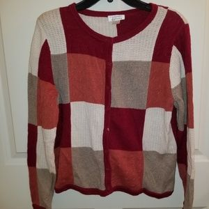 Colorblock cardigan sweater perfect for autumn